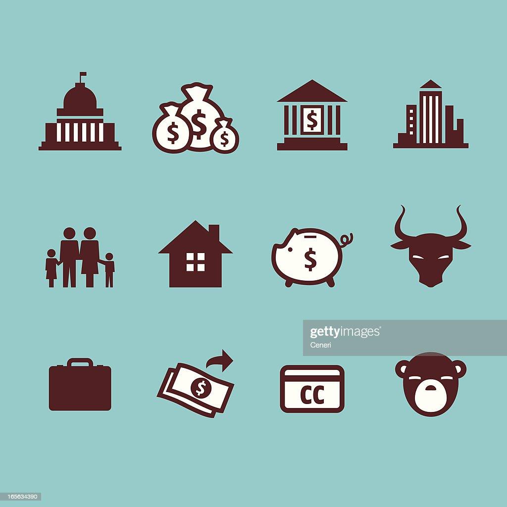 financial crisis icons