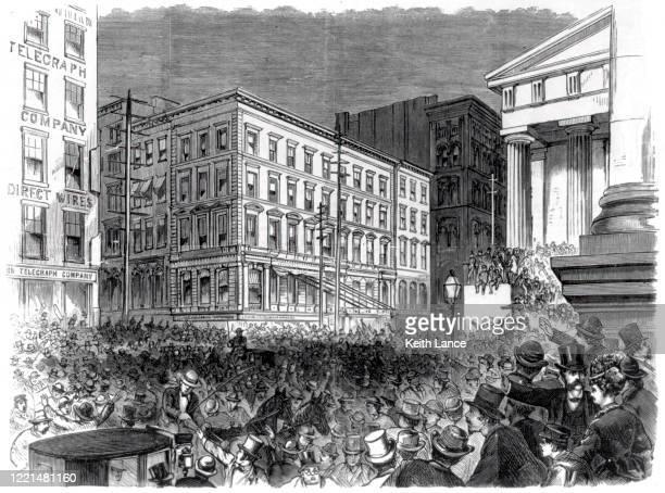 finanzpanik von 1873 - börsencrash stock-grafiken, -clipart, -cartoons und -symbole