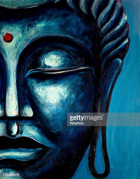 fine art: buddha painting - buddha stock illustrations