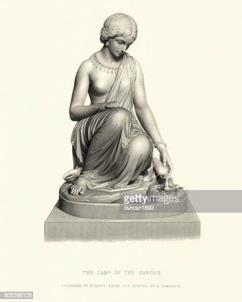 Fine Art Statue, Lamp of the Ganges, after H Timbrell