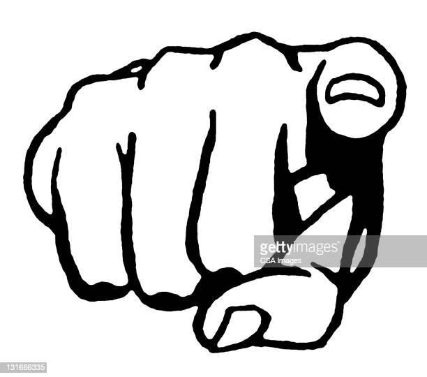 finger pointing - 指差す点のイラスト素材/クリップアート素材/マンガ素材/アイコン素材