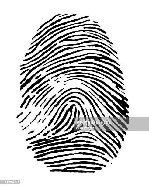 ilustraciones, imágenes clip art, dibujos animados e iconos de stock de fingerprint - huella dactilar