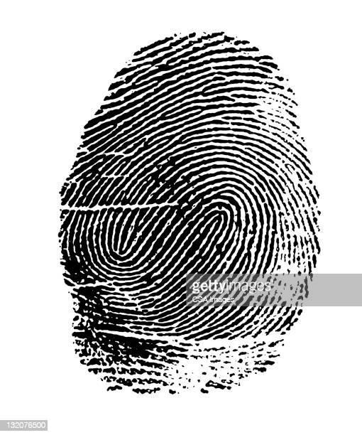 ilustraciones, imágenes clip art, dibujos animados e iconos de stock de huella dactilar - huella dactilar