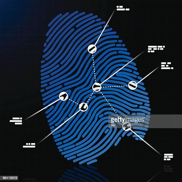 fingerprint - crime scene stock illustrations, clip art, cartoons, & icons