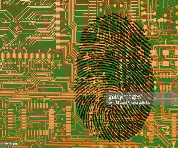 Fingerprint on circuit board