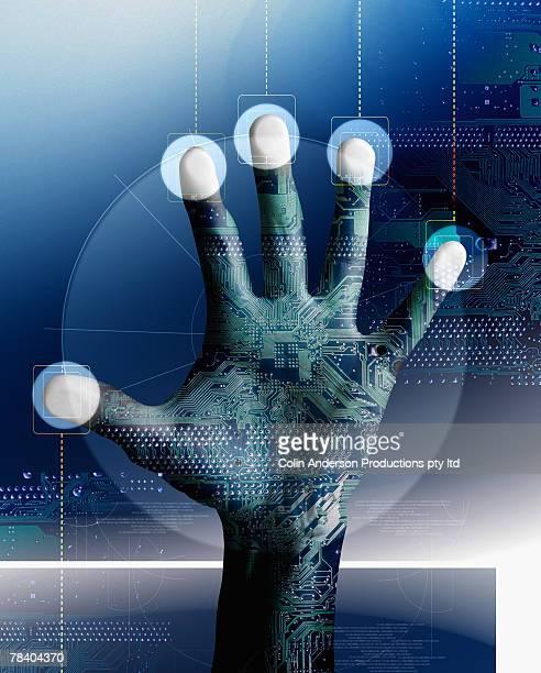 fingerprint scan - access control stock illustrations, clip art, cartoons, & icons