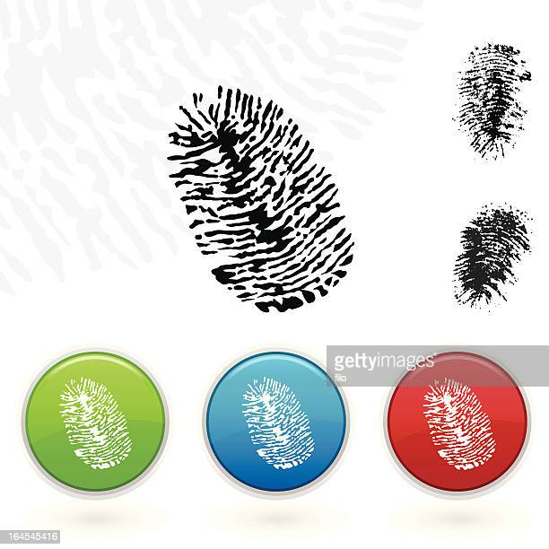 fingerprints - security pass stock illustrations, clip art, cartoons, & icons