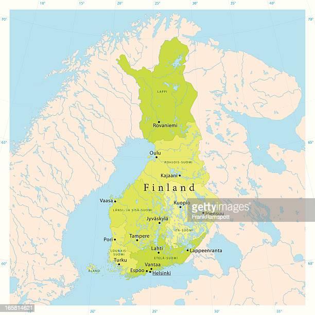finland vector map - helsinki stock illustrations, clip art, cartoons, & icons