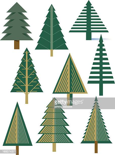 fir trees - spruce tree stock illustrations