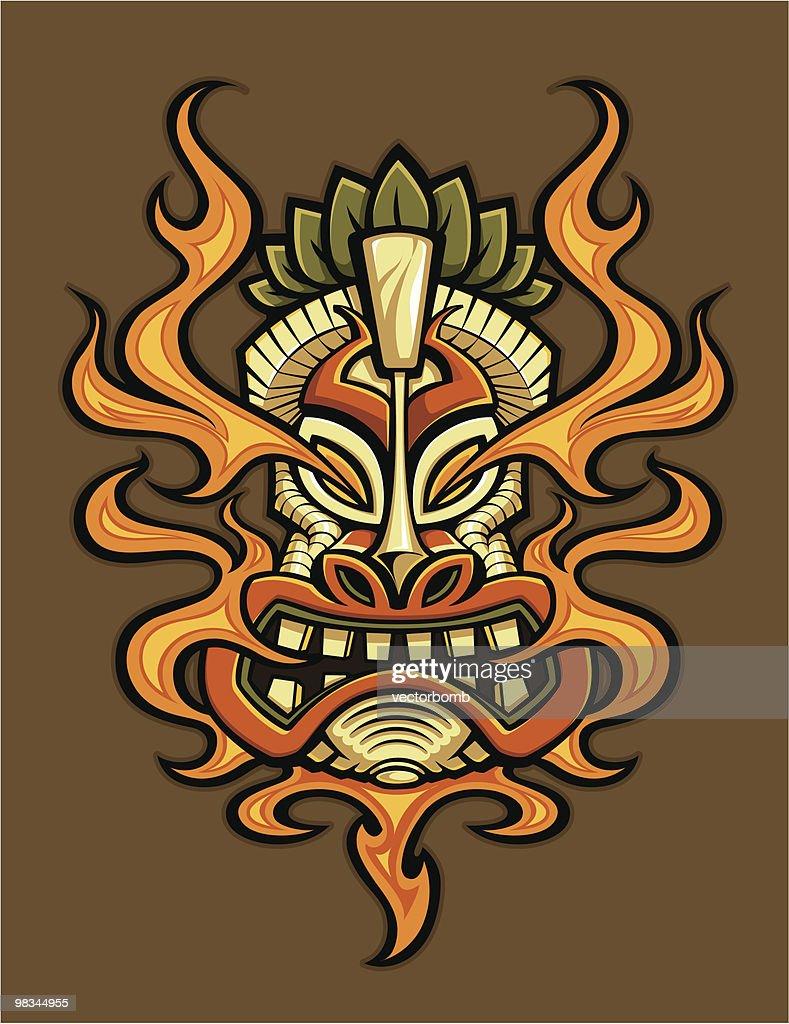 Fire Breathing Tiki Head