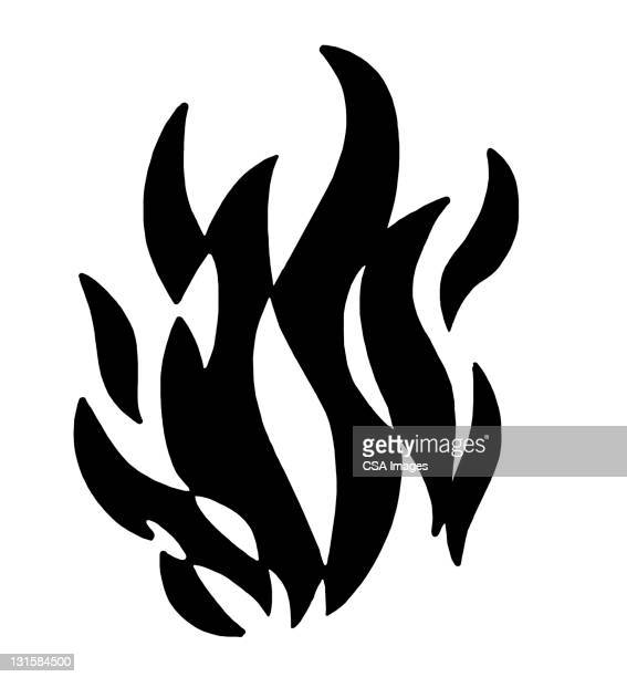 fire - the four elements stock illustrations