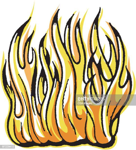 fire - distraught stock illustrations