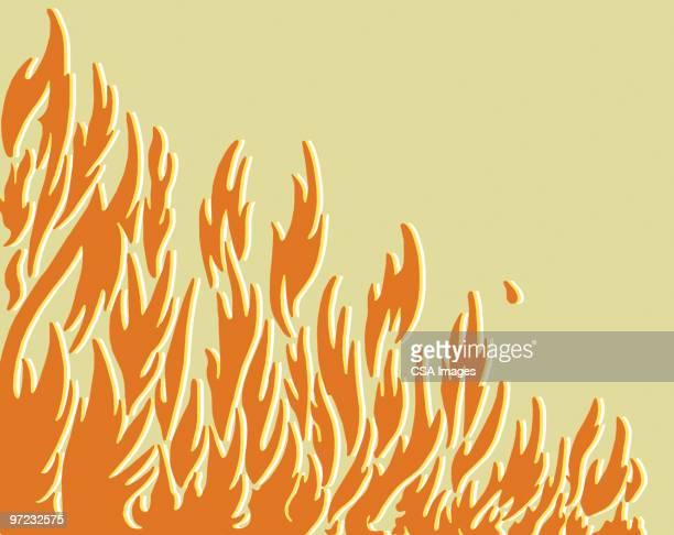 ilustraciones, imágenes clip art, dibujos animados e iconos de stock de fire - infierno fuego