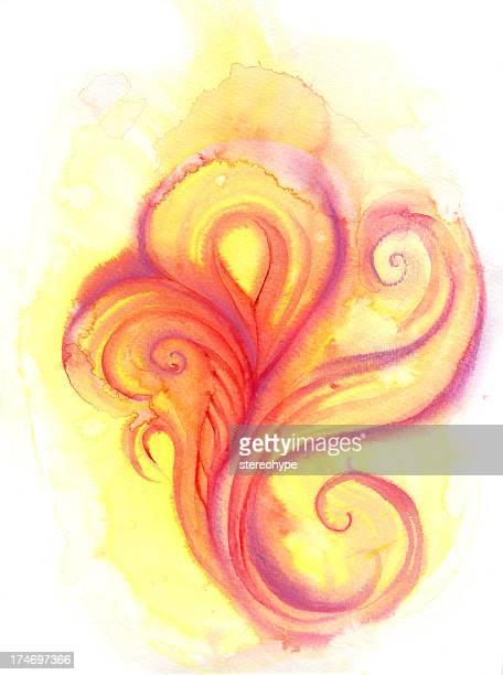 fire paisley - animal fetus stock illustrations, clip art, cartoons, & icons