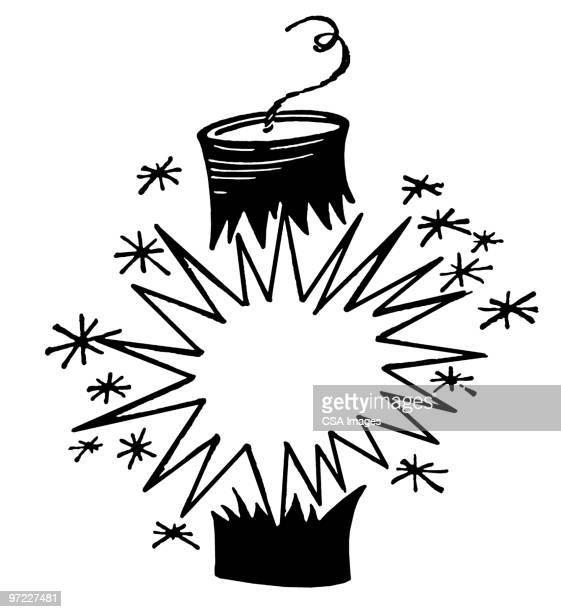 firecracker - firework explosive material stock illustrations
