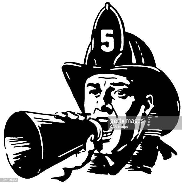 firefighter - heroes stock illustrations