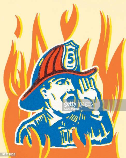 fireman - heroes stock illustrations