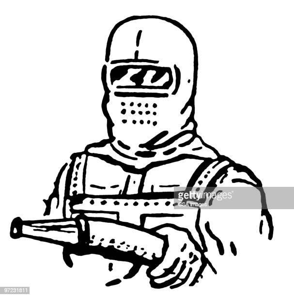 fireman - hood clothing stock illustrations