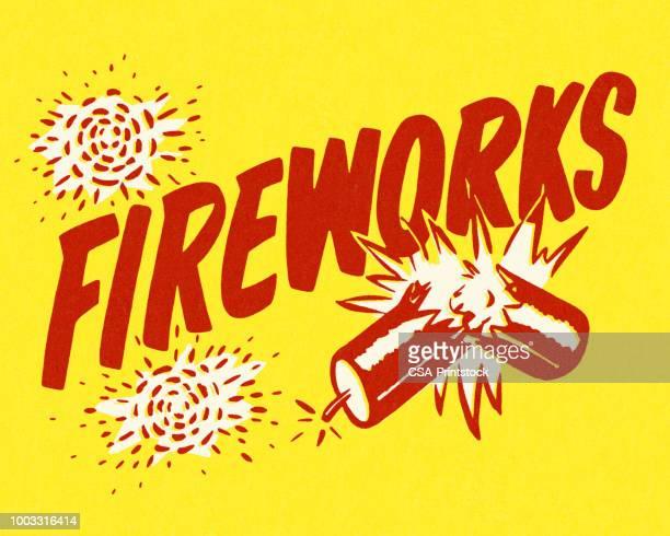 fireworks - dynamite stock illustrations