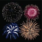 Fireworks (vector + XXL jpg in ZIP folder)
