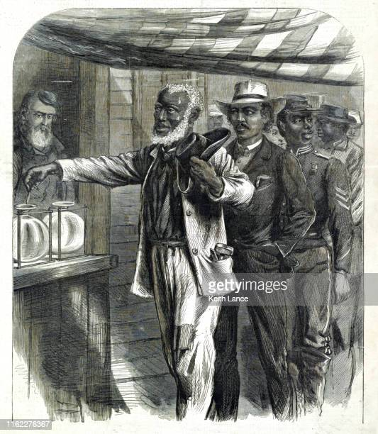 first african-american vote, 1870 - bill of rights stock illustrations