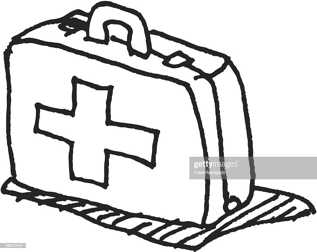 First Aid Kit Clipart Black And White