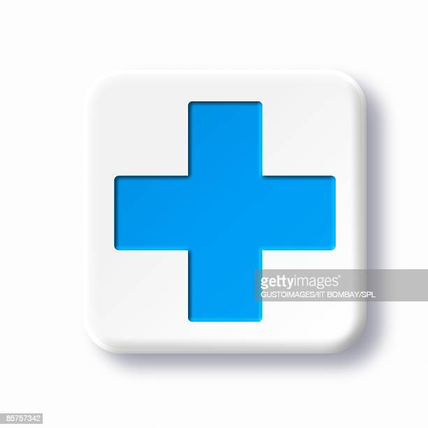 First aid symbol against white background