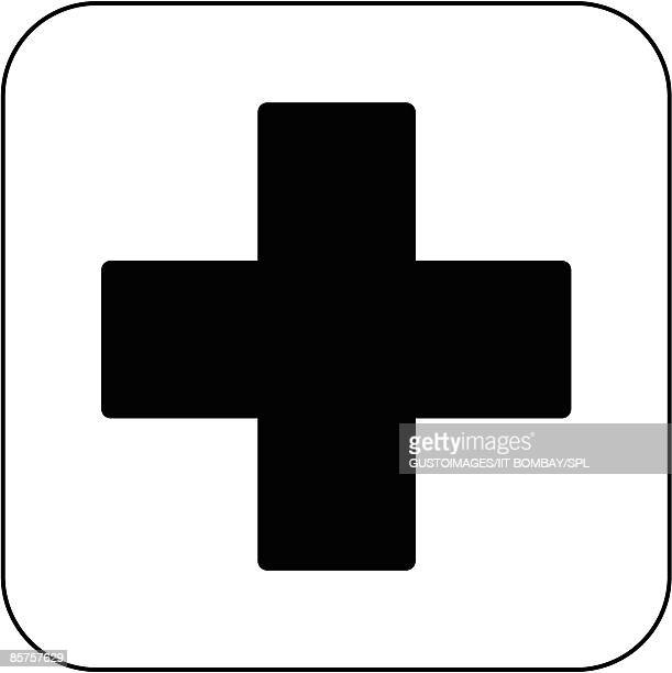 first aid symbol against white background - healthcare and medicine stock illustrations