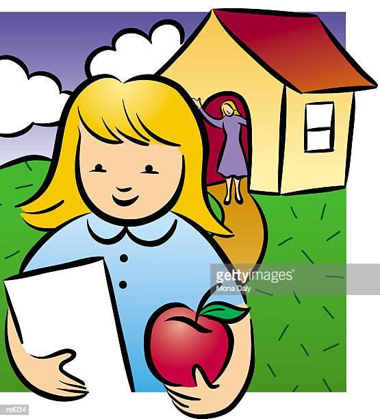 illustrations, cliparts, dessins animés et icônes de first day of school - première rentrée scolaire
