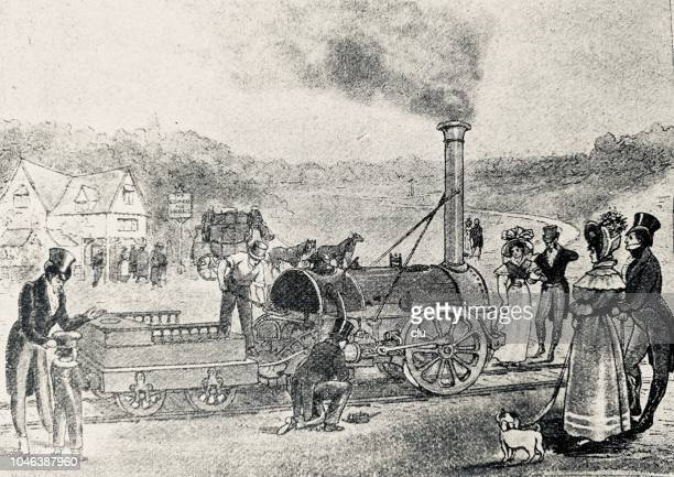 First train from Stockton to Darlington on 27 September 1825