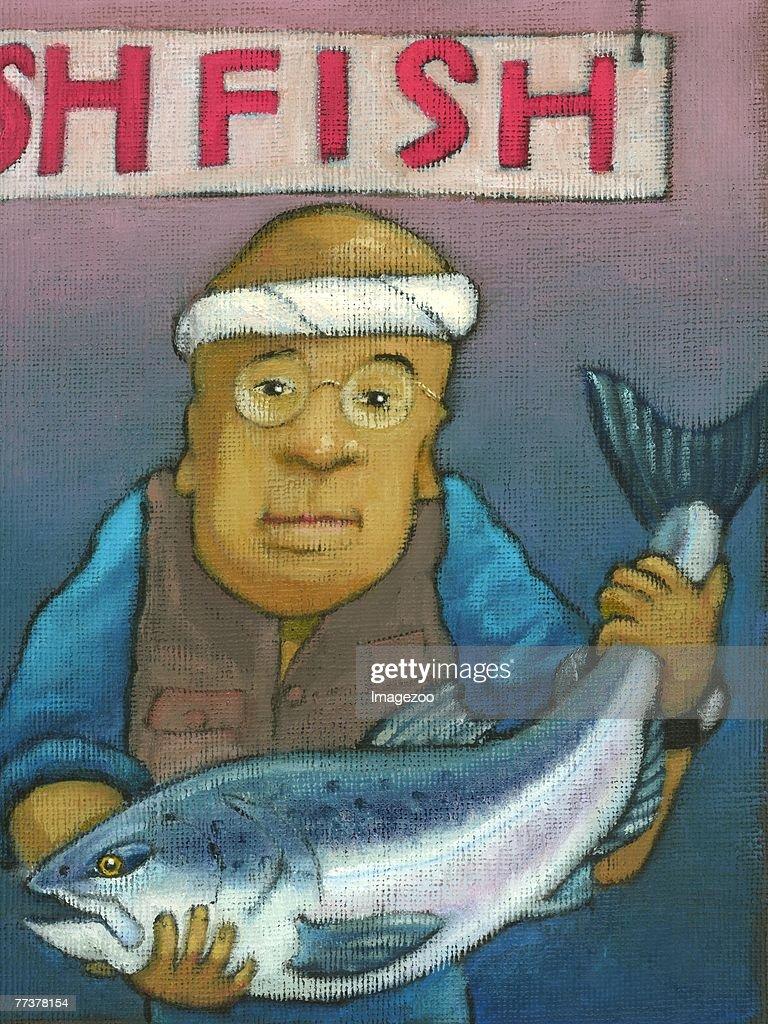 fish market : Illustration