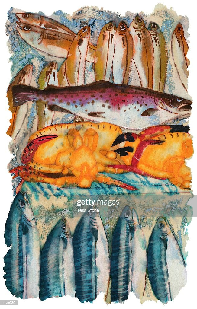 Fish Market : Stock Illustration