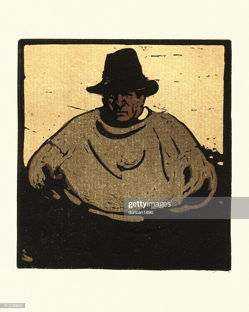 Fisher by W Nicholson : stock illustration