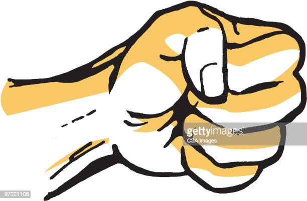 fist - punching stock illustrations