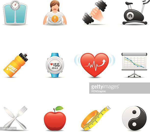 Fitness Icon Set | Elegant Series