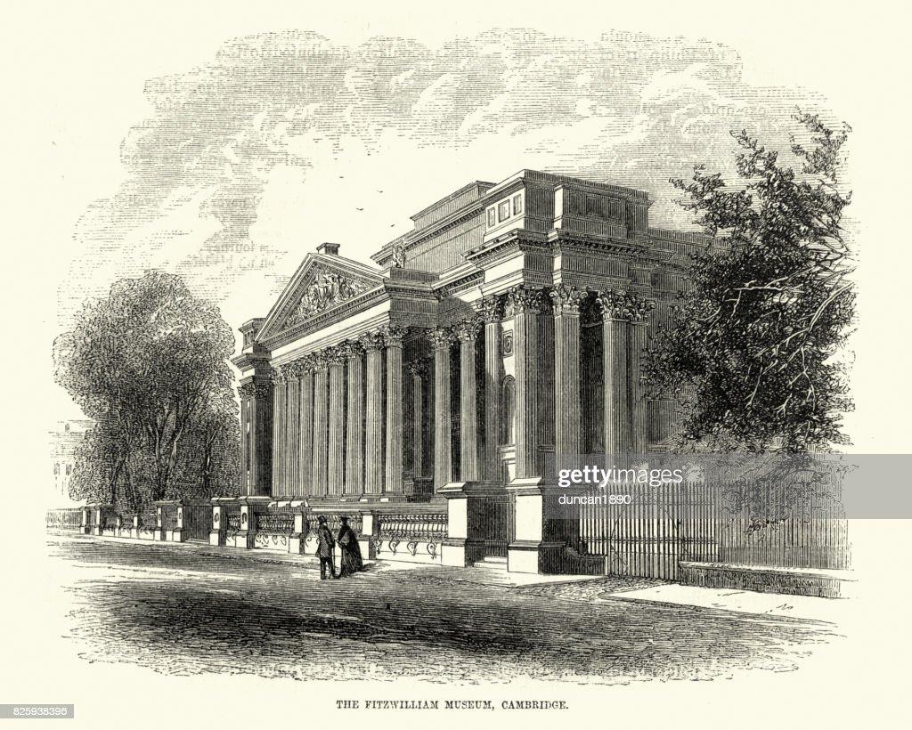 Fitzwilliam Museum, Cambridge, 19th Century : stock illustration