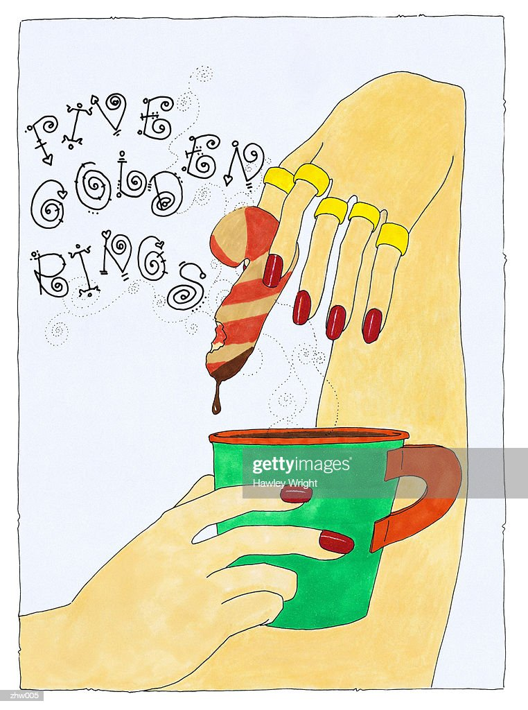 Five Golden Rings : Stock Illustration