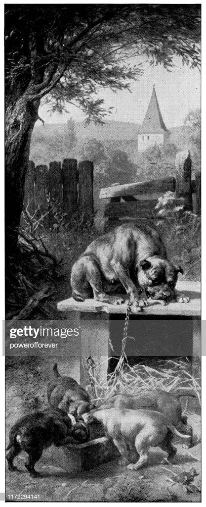 Five Senses Series: Taste by Heinrich Sperling - 19th Century : stock illustration