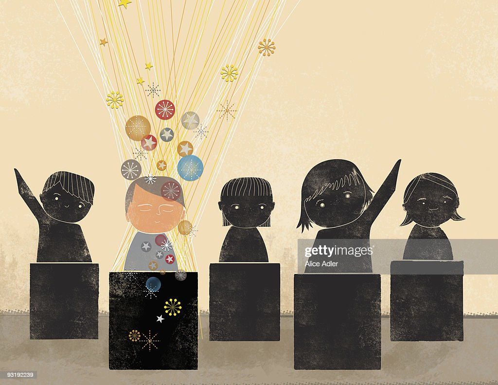 Five students : stock illustration