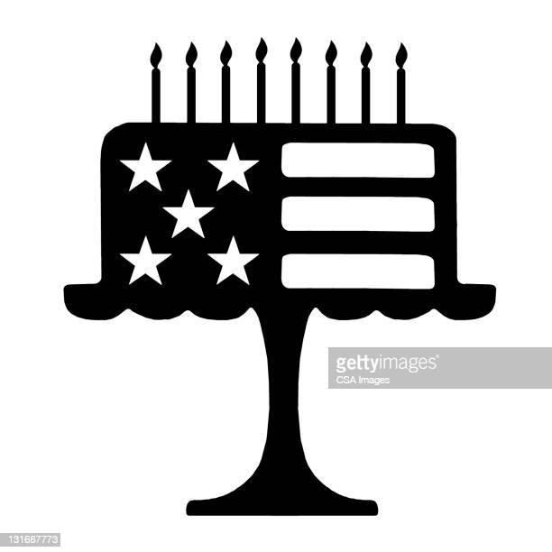 flag cake - cake stock illustrations