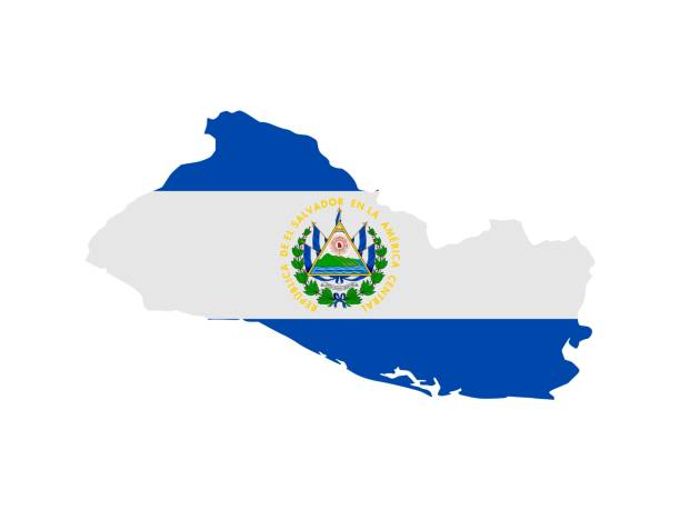 Flag in form form of the geographical country, El Salvador, Latin America and the Caribbean, Central America, Americas
