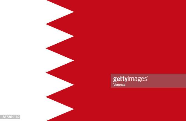 flag of bahrain - iranian culture stock illustrations, clip art, cartoons, & icons