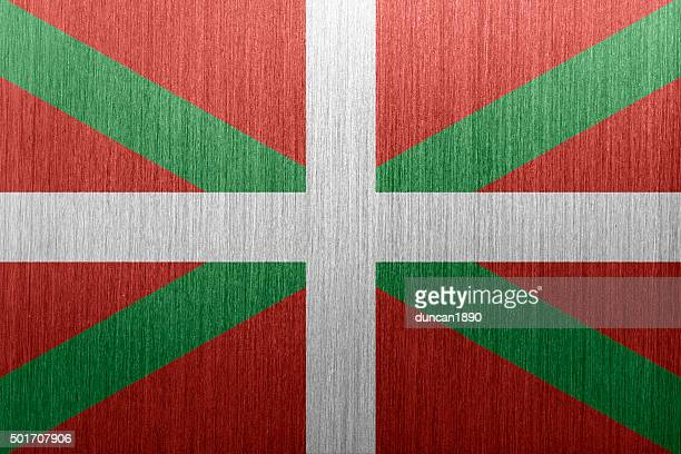 flag of basque country , spain on a brushed metal background - en búsqueda stock illustrations
