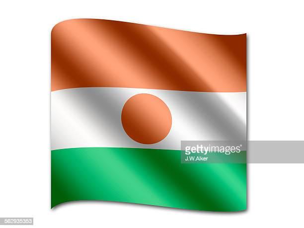 ilustrações, clipart, desenhos animados e ícones de flag of niger - níger