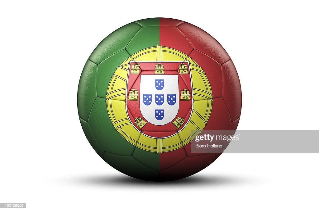 Flag Of Portugal On Soccer Ball Stock Illustration Getty Images