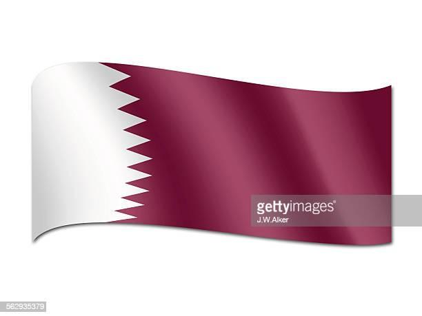 flag of qatar - qatar stock illustrations, clip art, cartoons, & icons