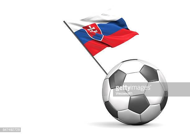 flag of slovakia on football, illustration - national flag stock illustrations