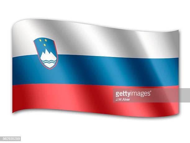 flag of slowenia - balkans stock illustrations, clip art, cartoons, & icons