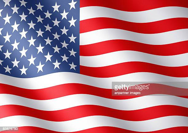flag of the usa with stars and stripes - national flag stock illustrations