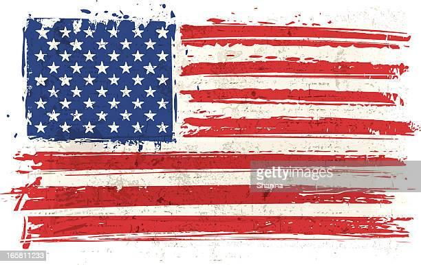 Flag of USA on Wall
